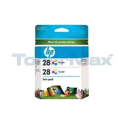 HP NO 28 INK CARTRIDGE COLOR TWIN-PACK